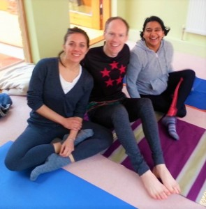 Catching up with fellow TT's Anju and Elizabeth at London's Sivananda Centre