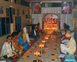 meal time at the ashram