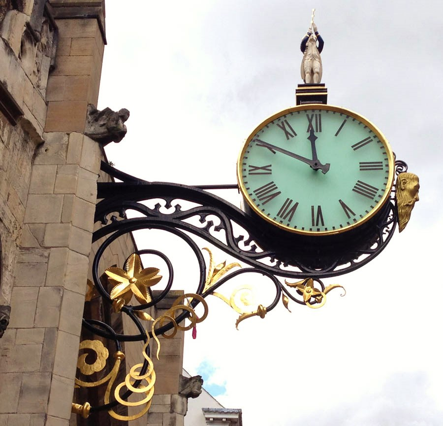 A perfect moment on a clock in York